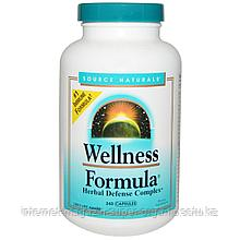 Защитный комплекс трав, 240 капсул, Wellness Formula, Source Naturals
