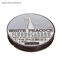 Леска Balsax White Peacock, флюорокарбон, d=0.14 мм, 30 м