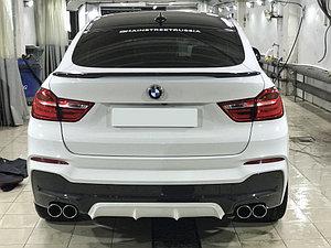 Накладки на задний М-бампер (диффузор). Аналог AC Schnitzer на BMW X4 (F26) 2014-