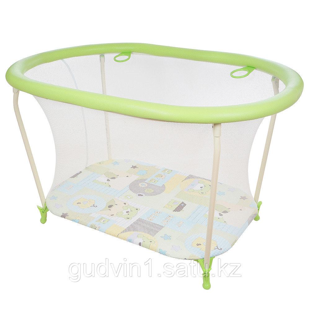 ГЛОБЭКС Манеж детский ОВАЛ  1108 зеленый
