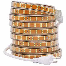 Светодиодная лента SMD 2835 Двойная 220V PREMIUM 156д/м, IP67, Белый, Теплый