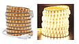 Светодиодная лента SMD 2835 Двойная 220V PREMIUM 156д/м, IP67, Белый, Теплый, фото 3