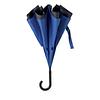 Зонт DUNDEE. Реверсивный двухслойный зонт полуавтомат из эпонжа. Цвет черный/синий