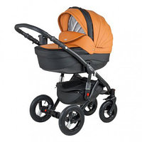 Универсальная детская коляска Adamex Barletta Deluxe (экокожа)  3в1 (31S)
