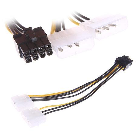 Кабель 2x Molex - 8 pin PCIE для питания видеокарты, фото 2