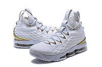 "Баскетбольные кроссовки Nike LeBron XV (15) ""White/Gold"" (40-46), фото 2"