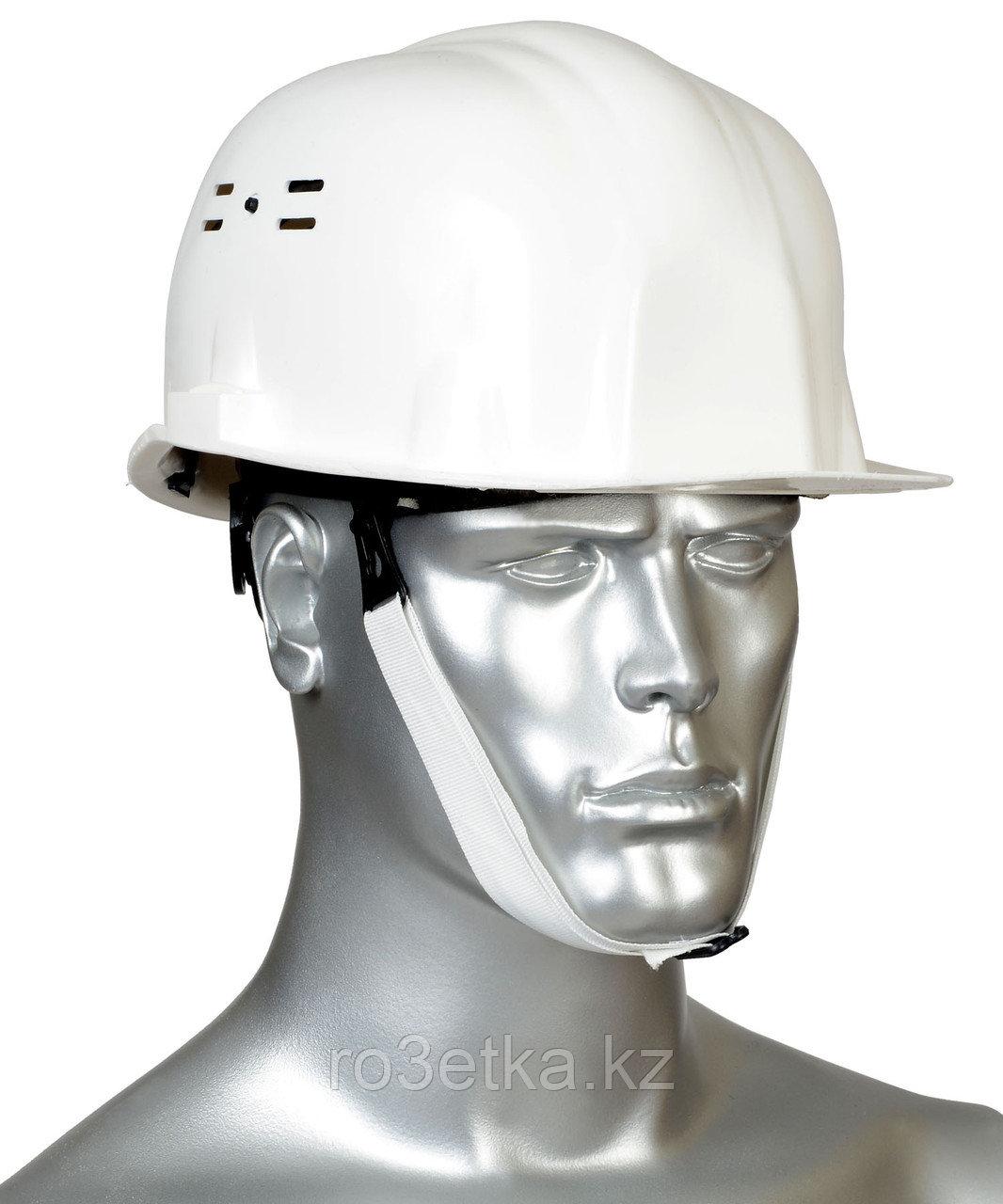 """Каска защитная """"ИСТОК"""" (белая) храповик"""