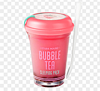 Bubble Tea Sliping Pack Strawberry (Etude House) маска для лица