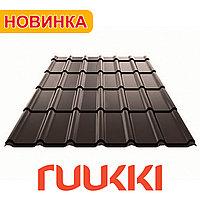 Металлочерепица Ruukki Decorrey Grand RR32 темно-коричневый (шоколад)