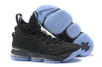"Баскетбольные кроссовки Nike LeBron XV (15) ""Black/Gold/Ice"" (40-46), фото 1"