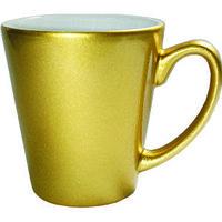 Кружка керамическая латте золото