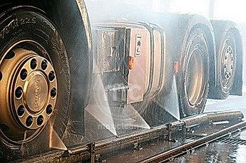 Автоматическая мойка колес и днища грузового автотранспорта. АМКД-2