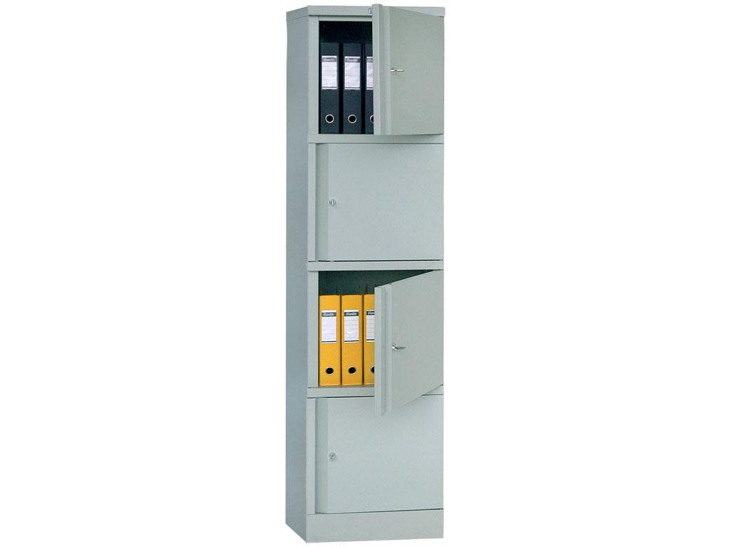 Шкаф архивный металлический АМ 1845/4 (1830х472х458 мм)