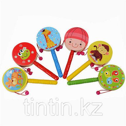 Детский деревянный барабан 16х7,5х2см, фото 2