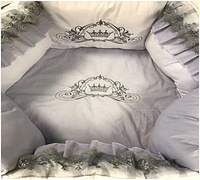 """Комплект в кроватку """"Нежное создание"""" 7 предметов  (для прямоугольной кроватки)"""