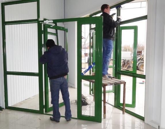 Изготовление металлопластиковых дверей