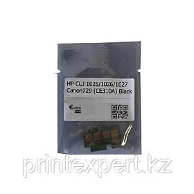 Чип HP CLJ 1025/1026/1027/1028/Canon729 (CE310A) 1,2K Black