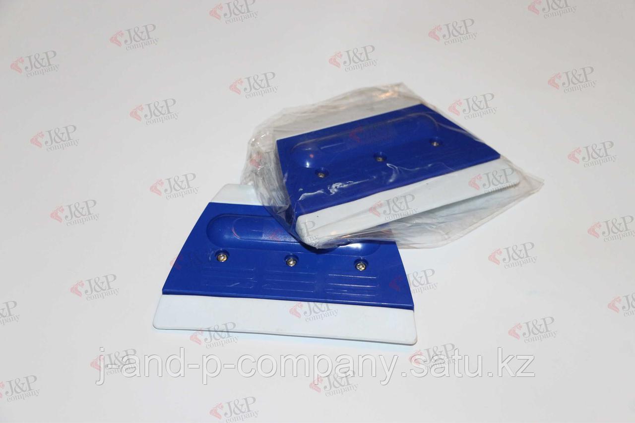 Ракель двусторонний силиконовый синий