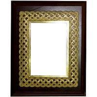 """Рамка 3-ка 20*25см (дерев.рамка + металл + декор.элемент """"Золото"""""""