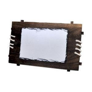 """Фотокамень """"Прямоугольник"""" деревянная рамка 18х26 см."""