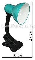 Гнущаяся лампа-светильник с зажимом(настольный) зеленый