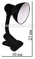 Гнущаяся лампа-светильник с зажимом(настольный) черный