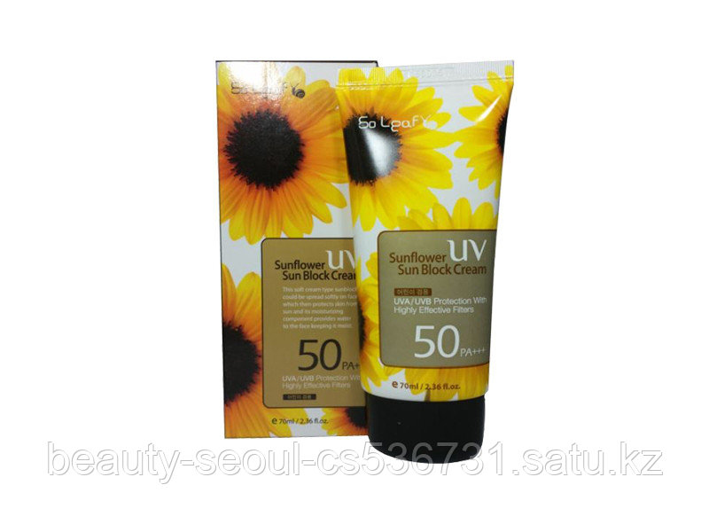 Солнцезащитный крем SO LEAF SUNFLOWER SUN BLOCK CREAM SPF/50PA+++