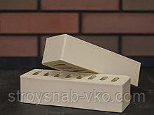 Бежевый облицовочный евро кирпич с фаской