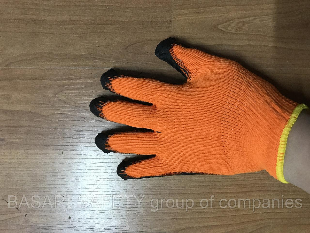 Перчатки х/б обливная лодонь рефленный латекс