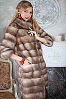 "Шуба полушубок жилетка из светлой куницы ""Земфира"" marten fur coat jacket"
