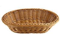 Плетёная хлебница 23х16,5 коричневая