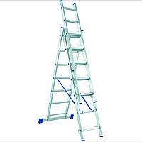 Лестница алюминиевая трехсекционная 3х6