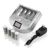 Зарядное устройство EBL LN-6418 Rapid Universal Smart Charger , AA AAA C Cell D Cell Battery Charger 9V Ni-MH