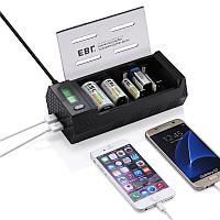 Зарядное устройство EBL LN-6908 NiMH NiCD AA AAA C D Lithium 9v rechargeable battery and charger with USB Port