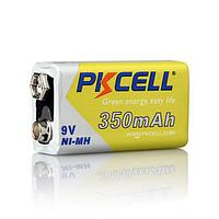 Аккумулятор  PKCELL 9V 350mAh Ni-MH Rechargeable Battery size 6F22