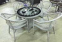Комплект стол со стульями из искусственного ротанга, фото 1