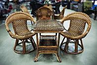 Стол+2 стула из натурального ротанга