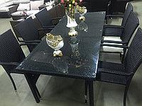Стол+6 стула искусственный ротанг, фото 1