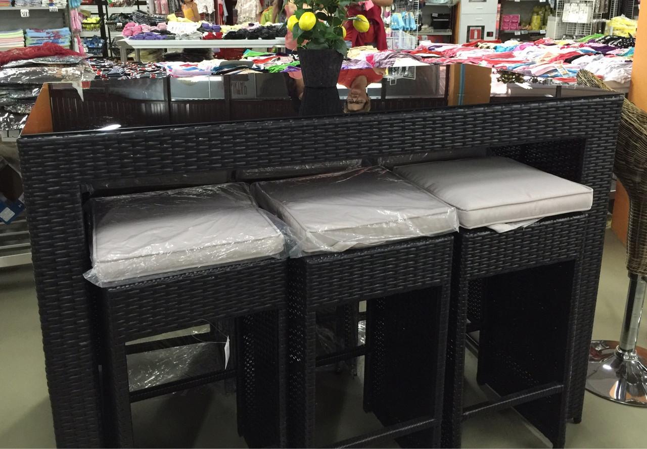 Комплект мебели из искусственного ротанга (барный столик и 6 стульев)
