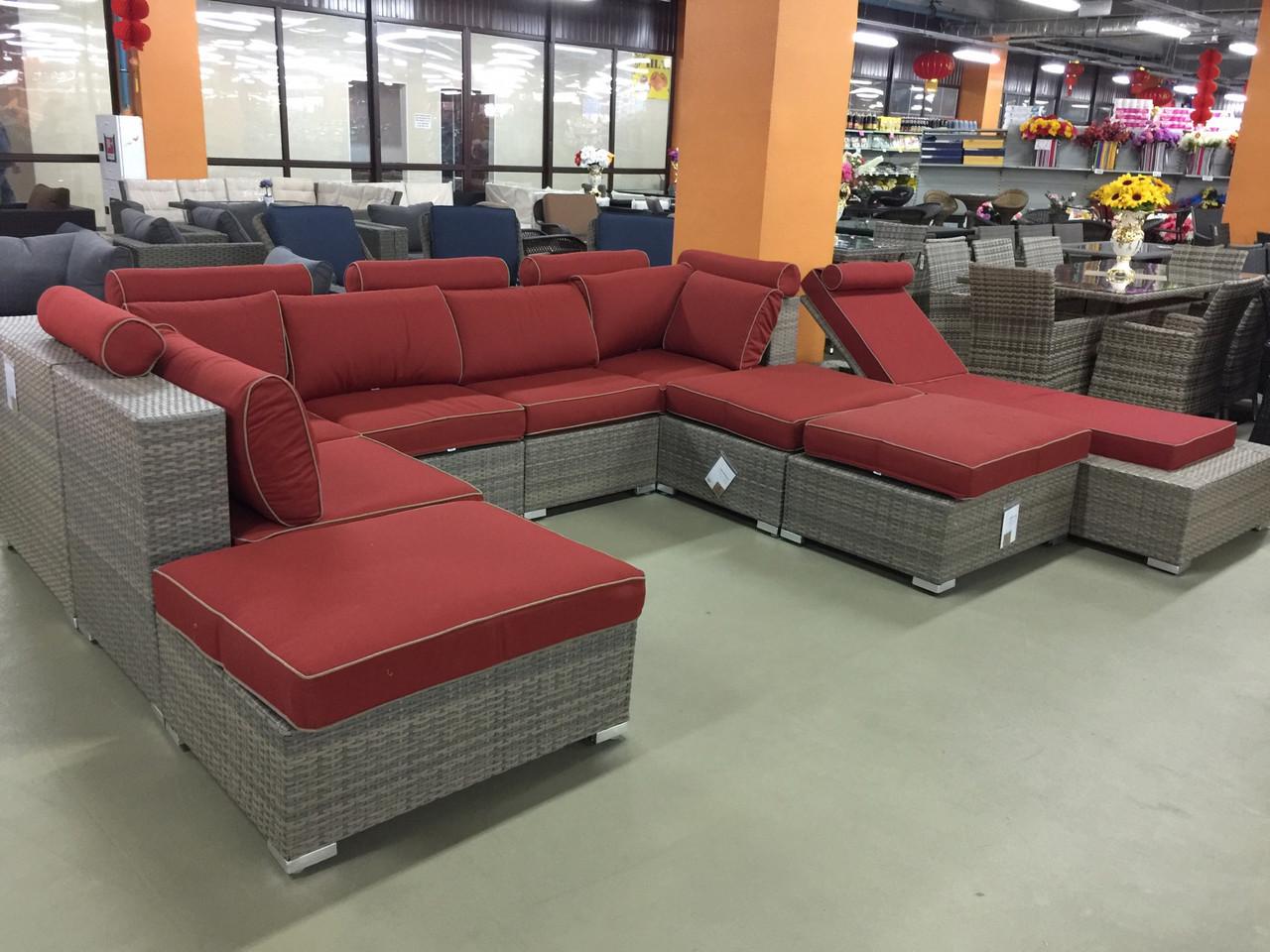 Комплект мебели диван шезлонг