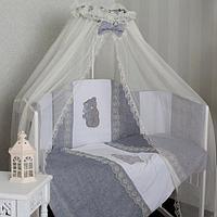 Комплект в кроватку GulSara Серый