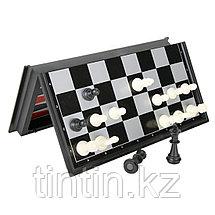 Настольная игра 3 в 1: нарды, шахматы и шашки, 36х36х2,5см, фото 2