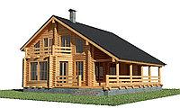 Проект деревянного дома из клееного бруса, фото 1