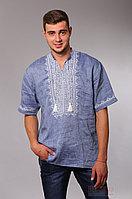 Мужская рубашка вышиванка с коротким рукавом