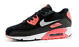 Nike Air Max 90 Woven Black Red, фото 5