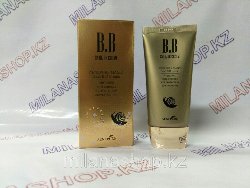 Aenepure Snail BB Cream Spf50 PA Whitening Anti-wrinkle Sun Protection 50ml -   Омолаживающий ББ крем