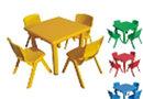Столик пластиковый квадратный детский Рубик HD403 HUADONG, фото 3