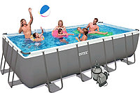 Бассейн каркасный Intex Rectangular Ultra Frame Pool - 28352.54982 549х274х132см