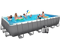 Бассейн каркасный Intex Rectangular Ultra Frame Pool - 28366.54980 732х366х132см