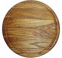 Доска для подачи блюд,массив дуба,D-30 см /H-2 см